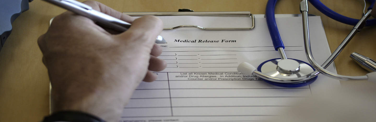 Medical form slider